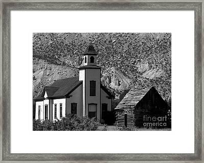 Clapboard Church 1898 Framed Print by David Lee Thompson