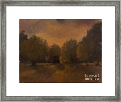 Clapham Common At Dusk Framed Print