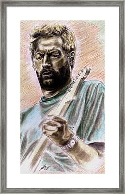 Clapton Framed Print by Kathleen Kelly Thompson