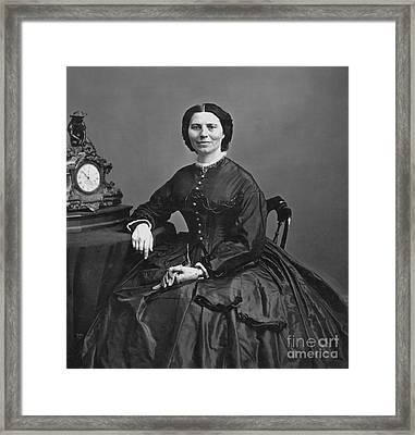 Clara Barton (1821-1912) Framed Print by Granger