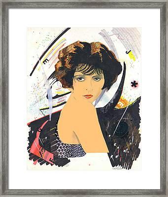 Clara Bow 1 Framed Print by John Keaton