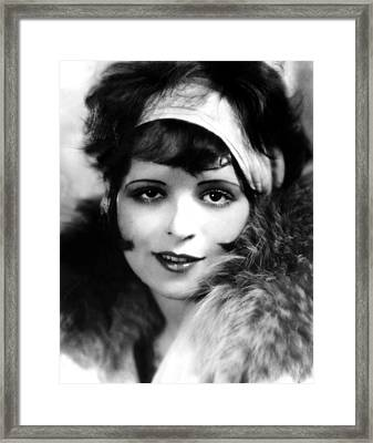 Clara Bow, Ca 1927 Framed Print by Everett