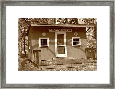 Clara's Sandwich Shop Framed Print by Skip Willits