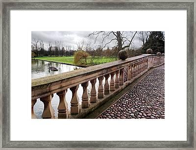 Framed Print featuring the photograph Clare College Bridge Cambridge by Gill Billington