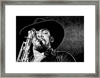 Clarence Clemons Collection Framed Print