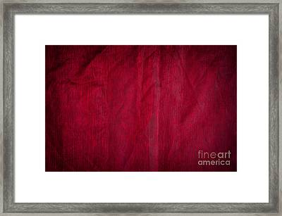Claret Organza Texture Abstract Framed Print