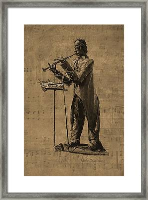 Clarinet Player Framed Print by Malu Couttolenc