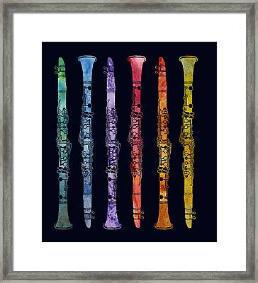 Clarinet Rainbow Framed Print