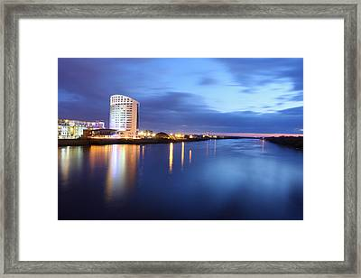 Clarion Hotel On The Banks Of The Shannon River Limerick Ireland Framed Print