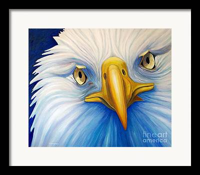 Bald Eagle Paintings Framed Prints
