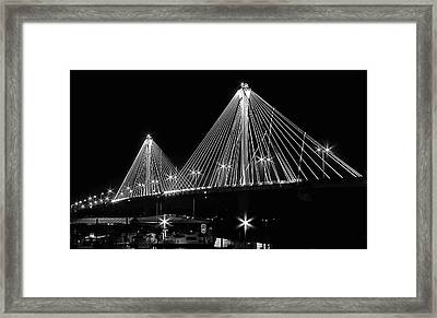 Clark Bridge Night Framed Print