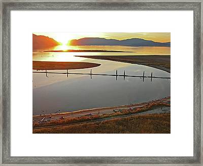 Clark Fork Delta Framed Print by Jerry Luther