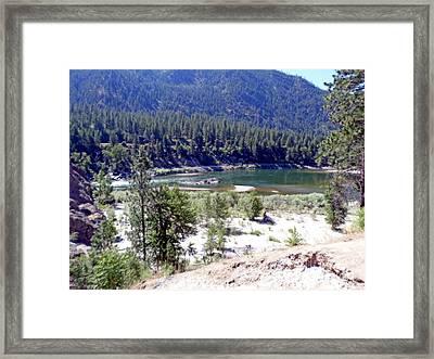 Clark Fork River Missoula Montana Framed Print