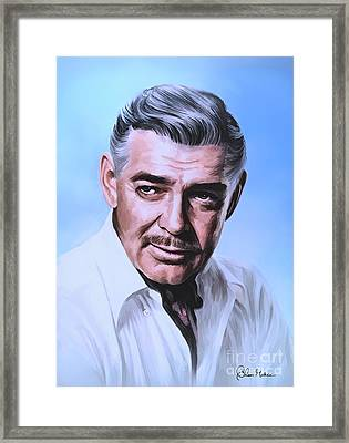 Framed Print featuring the painting  Clark Gable 2 by Andrzej Szczerski