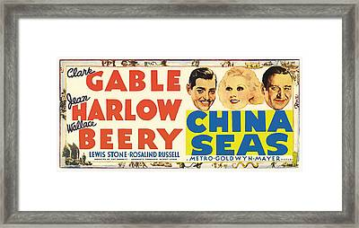 Clark Gable And Jean Harlow In China Seas 1935 Framed Print