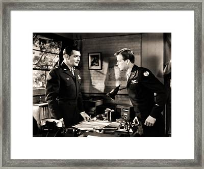 Clark Gable Appearing In Command Decision Framed Print