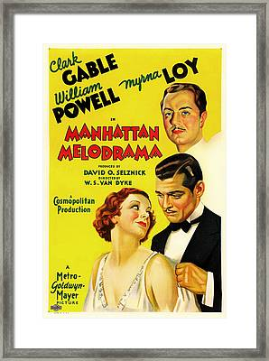 Clark Gable In Manhattan Melodrama 1934 Framed Print