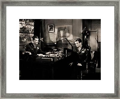 Clark Gable Staring In Command Decision Framed Print