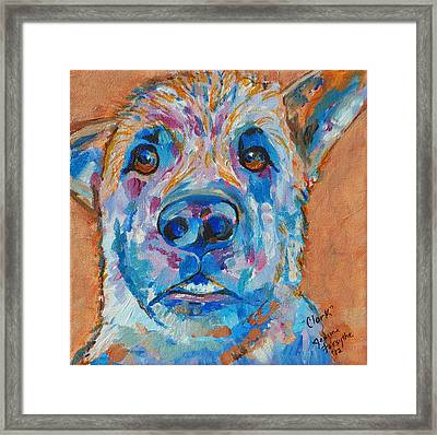 Framed Print featuring the painting Clark by Jeanne Forsythe