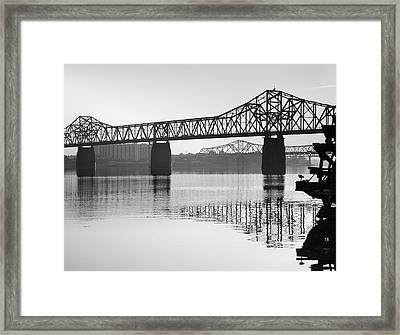 Clark Memorial Bridge I Framed Print by Steven Ainsworth