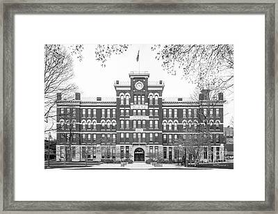 Clark University Jonas Hall Framed Print by University Icons