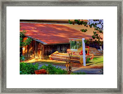 Clarkburg Combine Framed Print by Randy Wehner Photography