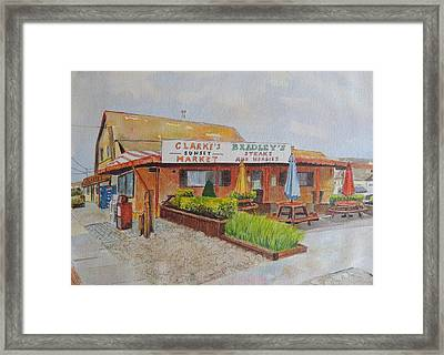Stone Harbor New Jersey Clarke's Sunset Market And The Old Bradley's Framed Print by Patty Kay Hall