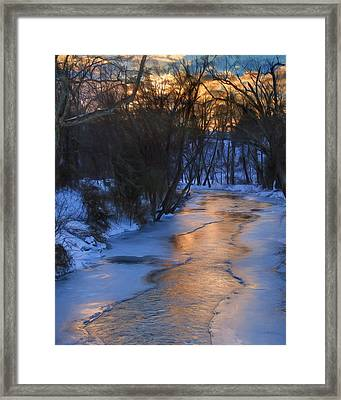 Clarks Creek Sunset Framed Print by Lori Deiter