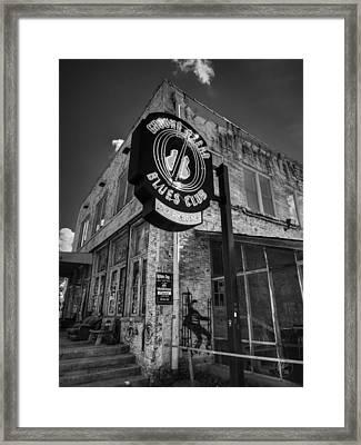 Clarksdale - Ground Zero Blues Club 001 Bw Framed Print