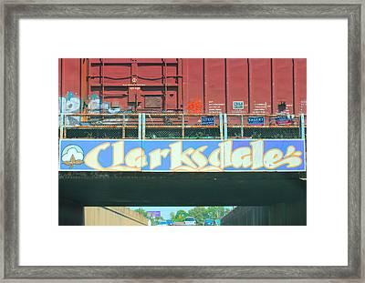 Clarksdale Overpass Framed Print