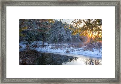 Clash Of Seasons Framed Print by Bill Wakeley