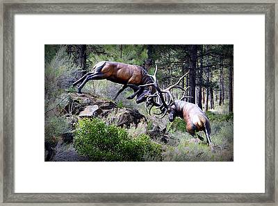 Framed Print featuring the photograph Clash Of The Titans by AJ Schibig
