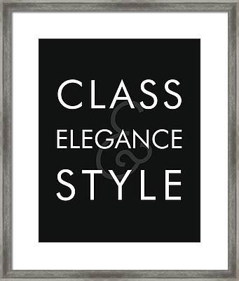 Class, Elegance, Style Framed Print