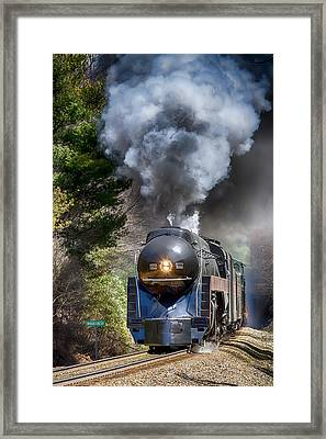 Class J 611 Steam Engine At Ridgecrest Framed Print