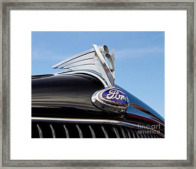 Classic 1935 Ford Hood Ornament Framed Print