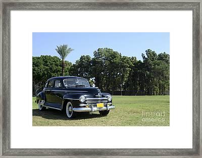 classic 40's black Plymouth  Framed Print by Amir Paz