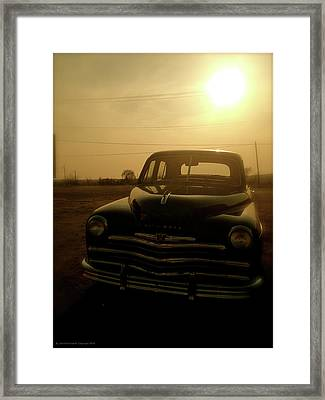 Framed Print featuring the photograph Classic America, Eight by Iconic Images Art Gallery David Pucciarelli