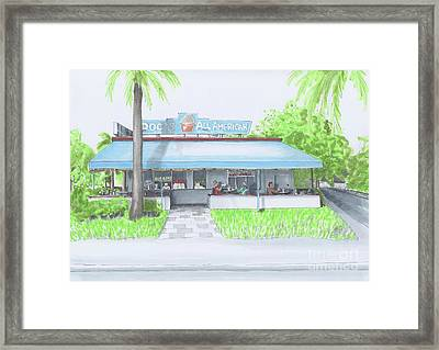 Classic American Cafe. Breakfast Time Framed Print