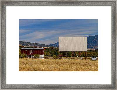 Classic American Retro Drive-in Theater Framed Print by James BO  Insogna