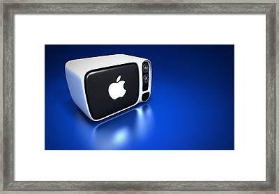 Classic Apple Tv Framed Print