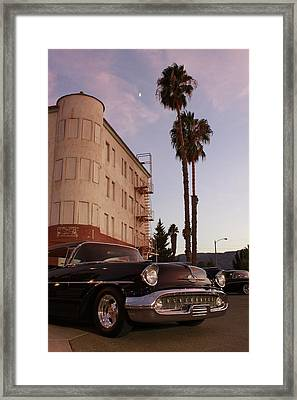 Classic At Sunset Framed Print by Lawrence Costales