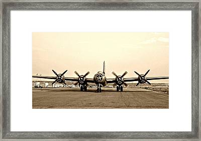 Classic B-29 Bomber Aircraft Framed Print