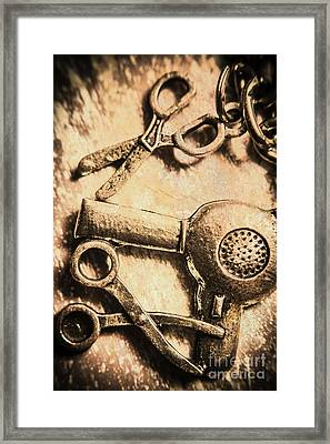Classic Beauty Salon Icons Framed Print by Jorgo Photography - Wall Art Gallery