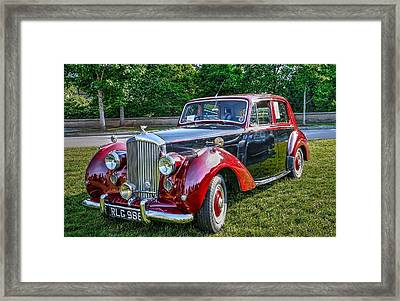 Classic Bentley In Red Framed Print