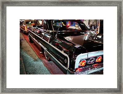 Classic Black Chevy Impala Framed Print by Dean Harte