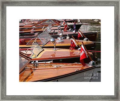 Classic Boats Framed Print