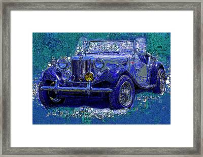 M G - Classic British Sports Car Framed Print by Jack Zulli