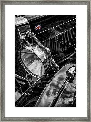 Framed Print featuring the photograph Classic Britsh Mg by Adrian Evans