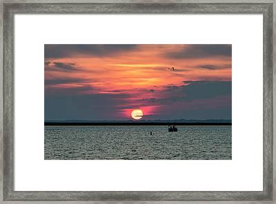 Classic Buffalo Sunset Framed Print