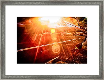 Classic Car Detail 3 Framed Print by Gestalt Imagery